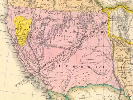 Map Of California 1850  Most Curious Map Images