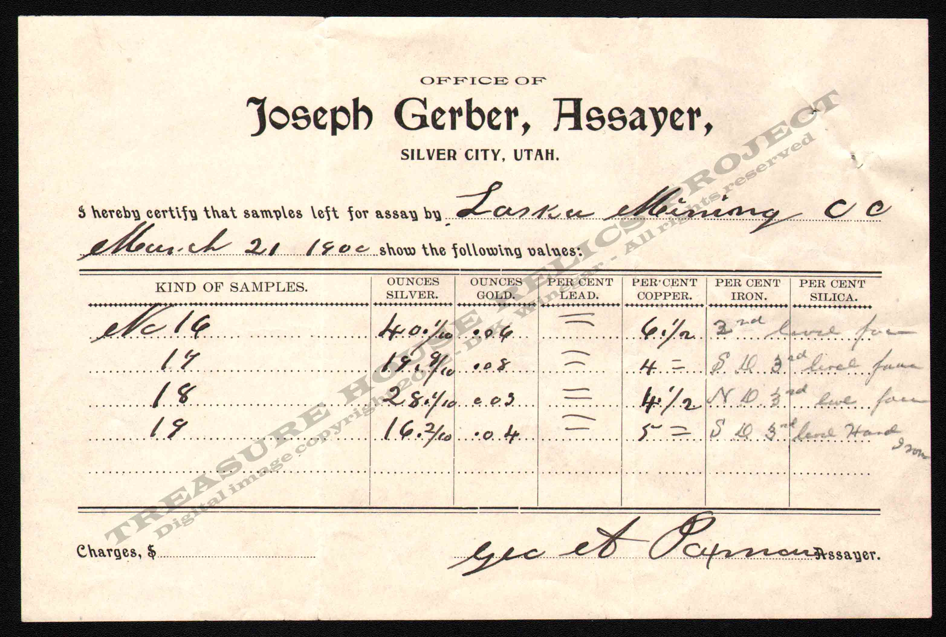 ASSAY_JOSEPH_GERBER_ASSAYER_SILVER_CITY_UTAH_1900_400_EMBOSS.jpg