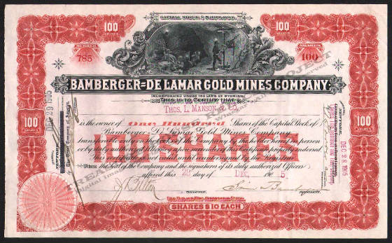 LETTERHEAD/ARCHIVE_17088_STOCK_BAMBURGER_DELAMAR_GOLD_MINES_COMPANY_785_1905_DSW_150_CROP_EMBOSS.jpg