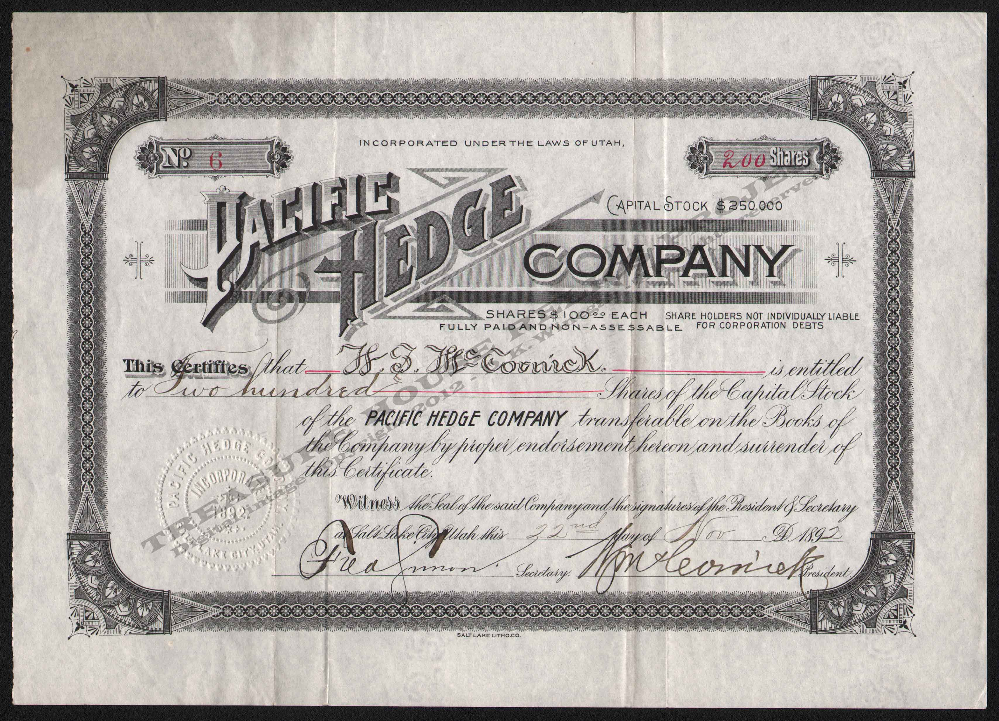 LETTERHEAD/ARCHIVE_14357_STOCK_PACIFIC_HEDGE_COMPANY_6_1892_DSW_300_CROP_EMBOSS.jpg