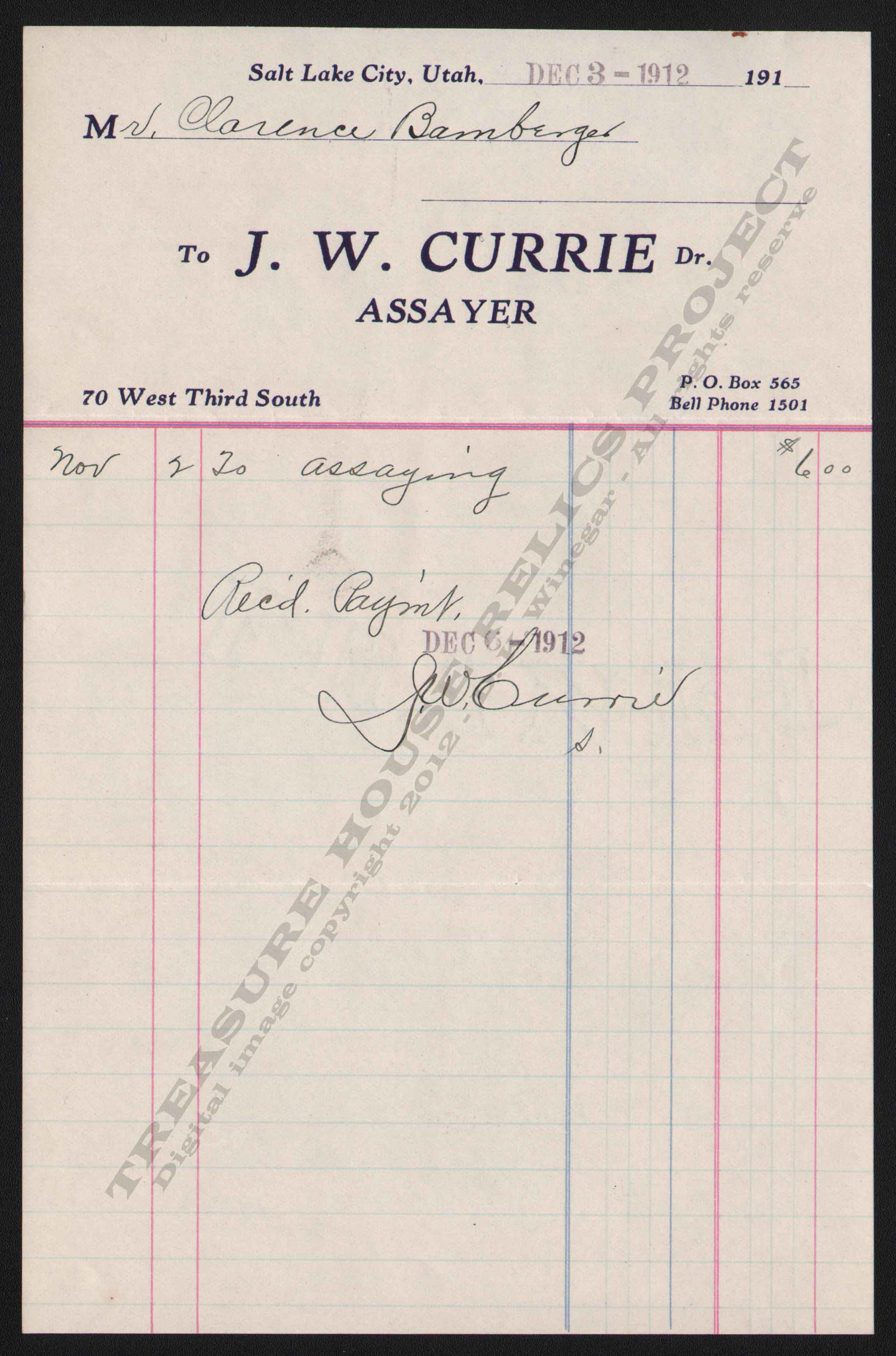 LETTERHEAD/ASSAY_J_W_CURRIE_12_3_1912_KIRK_400_CROP_EMBOSS.jpg
