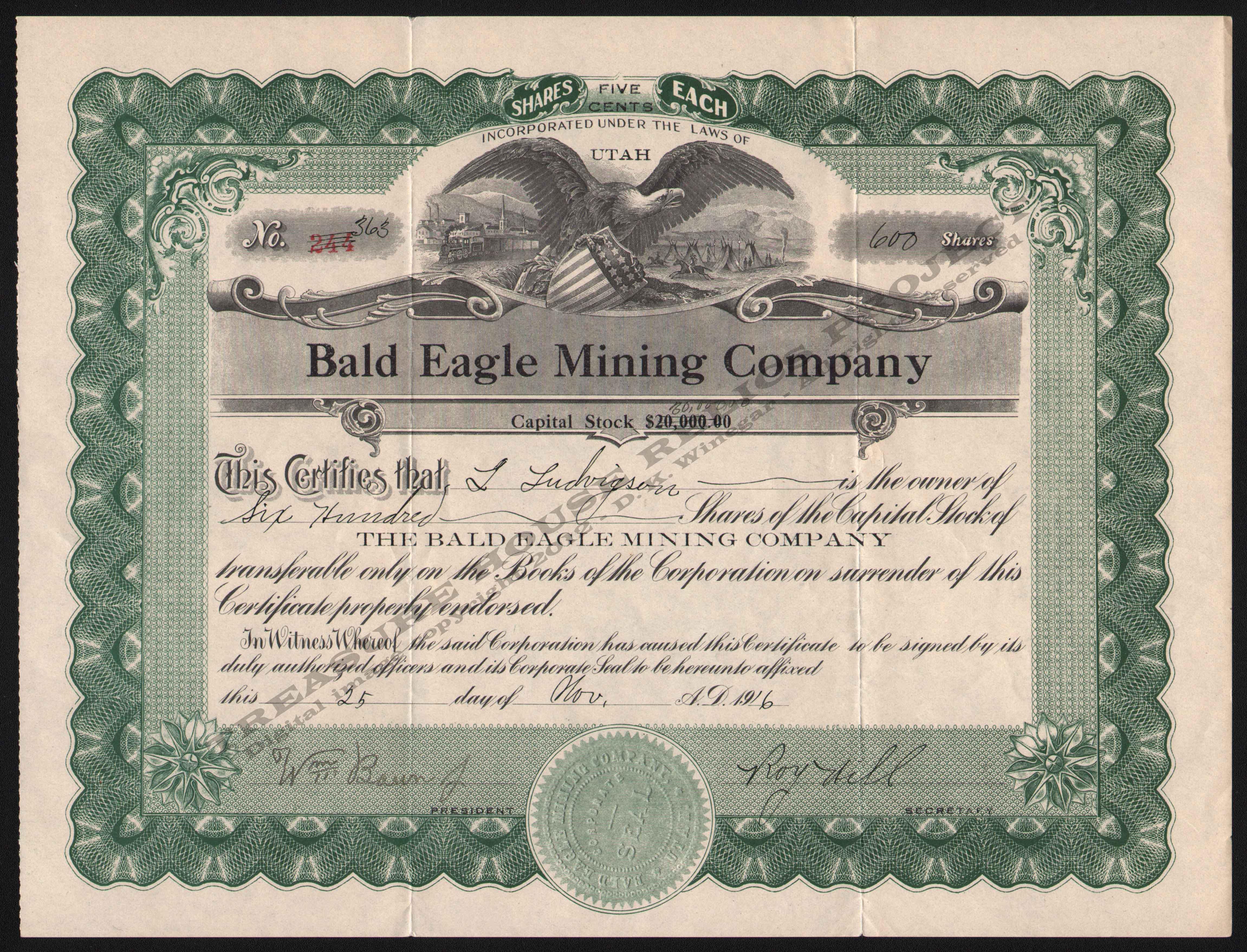 Utah mining stocks b letterheadbaystategoldminingco311899ophirkirk400cropembossg yadclub Images