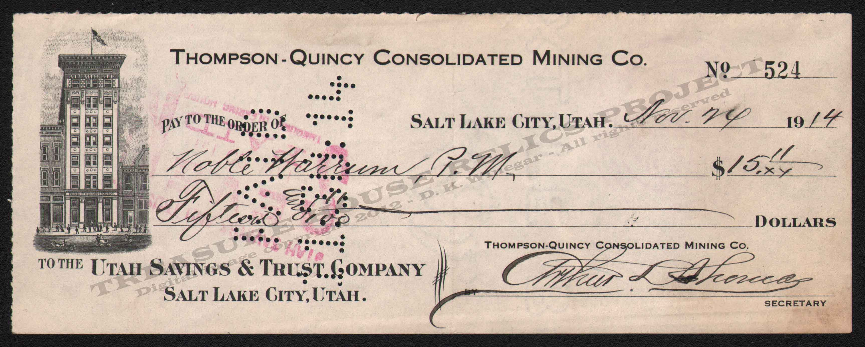 LETTERHEAD/CHECK_THOMPSON_QUINCY_CONSOLIDATED_MINING_COMPANY_524_1914_GB_400_CROP_EMBOSS.jpg