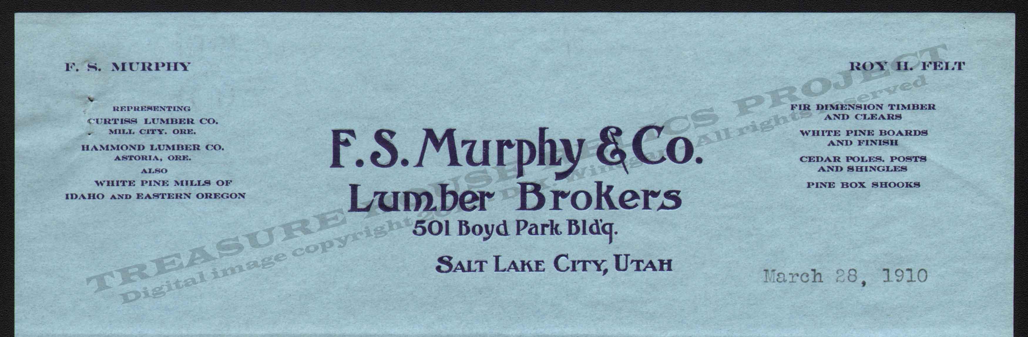Letterhead Utah D F – Lumber Broker