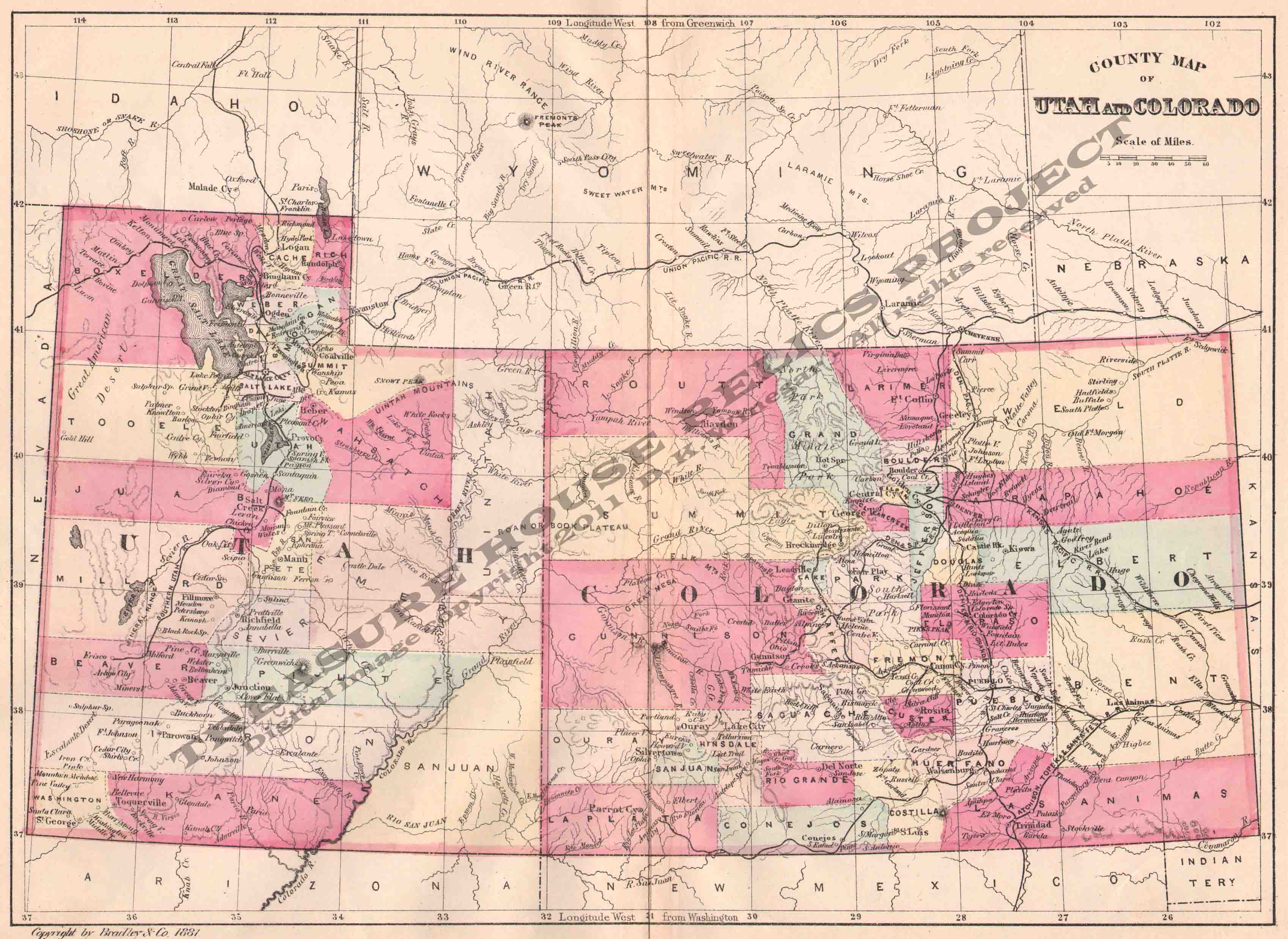 map utah colorado – bnhspine.com
