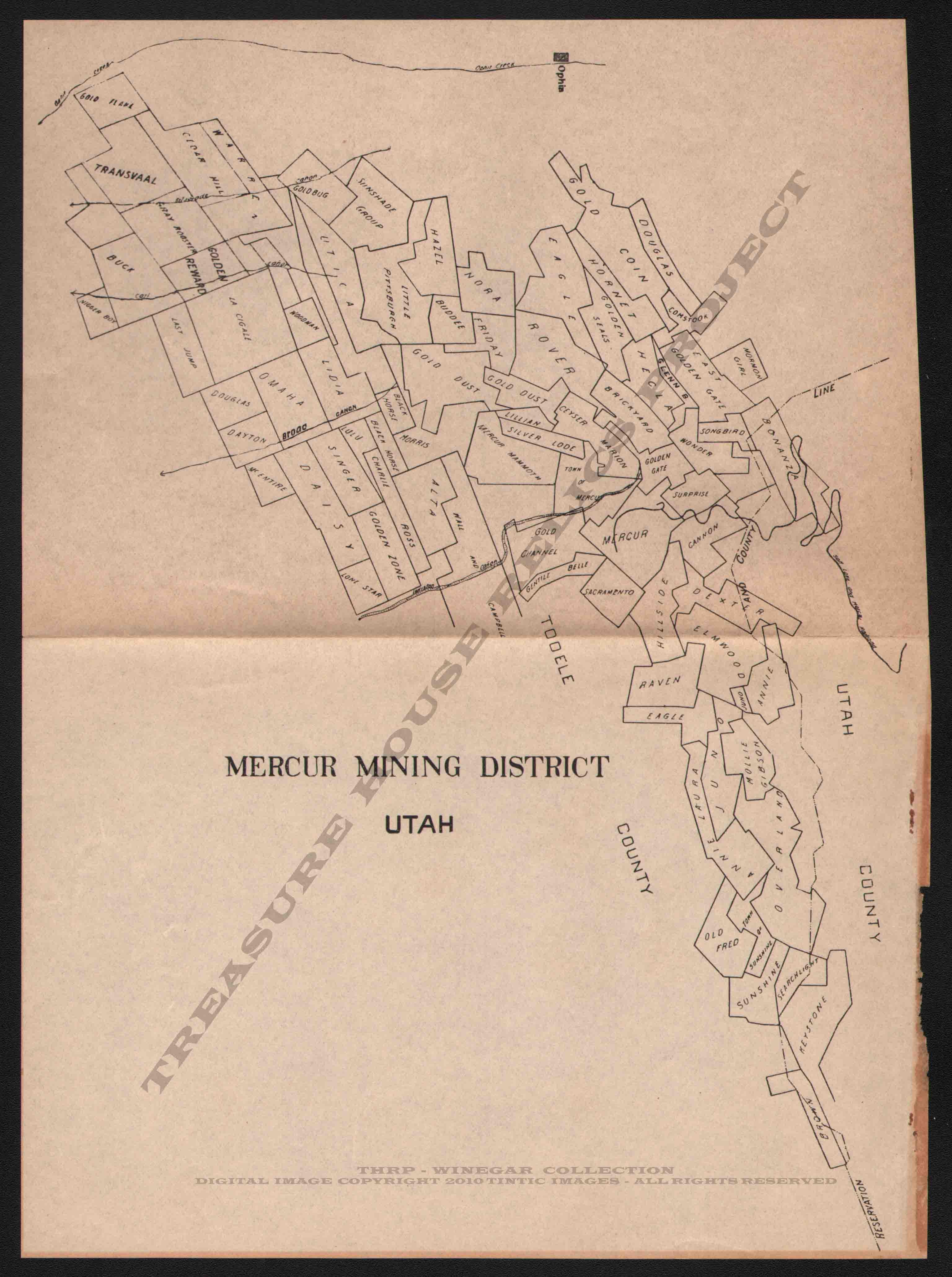 Mercur Claim Map on